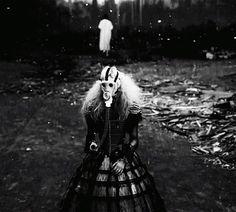 FFFFOUND! #big #mask #blonde #fashion #dress