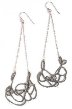 Dove Grey Cloud Earrings #earrings #jewelry