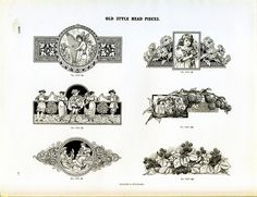 Type specimen of vintage ornamental decorations
