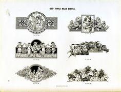Type specimen of vintage ornamental decorations #ornament #type #specimen #vintage
