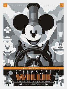 Steamboat Willie by Tom Whalen | Reelizer #poster