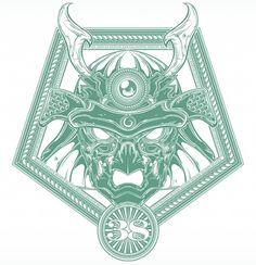 Shogun on the Behance Network #vector #derek #illustration #shogun #gangi #green