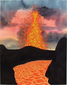 Painting Or Something : Photo #lava #eruption #yeah #painting