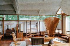 George Nakashima #chairs #interiors #george nakashima