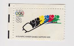 XI Olympic Winter Games / 1972 #olympic #stamp #pattern #print #1972 #sport #games #winter