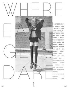 Where Eagles Dare | Volt Café | by Volt Magazine #beauty #white #design #graphic #black #photography #art #and #fashion #layout #typography