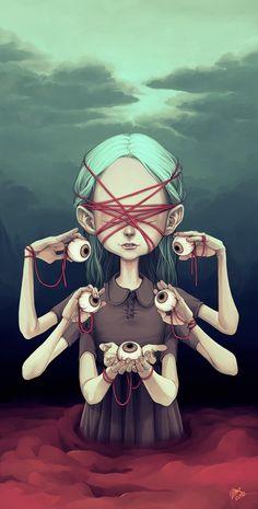 Eyes #graphic design #girl #illustration #eyes