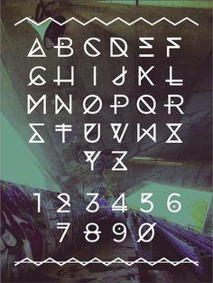 Marina Typeface - Angelica Baini #typography #stadium #marina #marine #miami