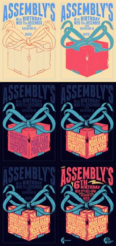 The Assembly's 6th Birthday Party #illustration #poster