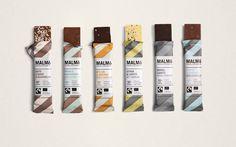 Malmö Chokladfabrik Bars & Cones packaging by Pond Design » Retail Design Blog