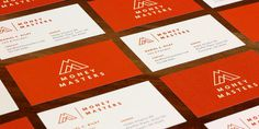 Money Masters Business Cards #business cards #identity #orange #finance