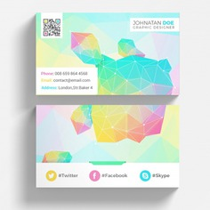 Colorful geometric business card mockup Premium Psd. See more inspiration related to Business card, Mockup, Business, Abstract, Card, Template, Geometric, Office, Visiting card, Presentation, Colorful, Stationery, Corporate, Mock up, Company, Modern, Corporate identity, Branding, Visit card, Identity, Brand, Identity card, Presentation template, Up, Brand identity, Visit, Composition, Mock and Visiting on Freepik.
