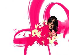 GirlFlowers #glasses #girl #rose #magenta #layout #flowers