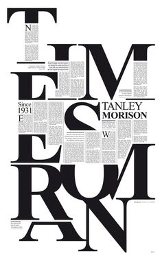 Times New Roman on the Behance Network #typography #editorial