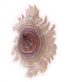 Art Sponge I Inspirational Visual Art #color #paper #psychedelic #jen stark #sculpture
