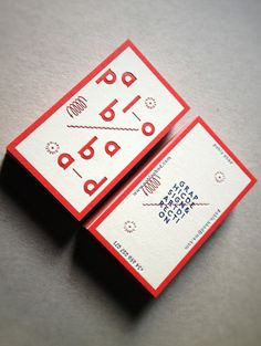New Visual Identity_01 Business Cards on the Behance Network #red #business #card #letter #press #typography