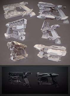 heavy pistol clay render #scifi pistol