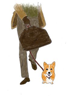 original illustrations for Max (June 2013) #corgi #illustration #men #leather #fashion #bag