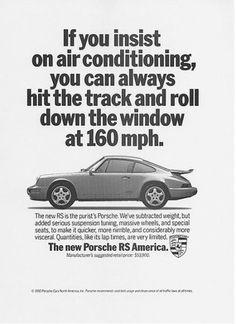 Porsche ads | Cartype #porsche #rs america #1993