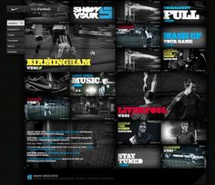 Nike Show Your 5 / 2009 on the Behance Network #interface #weblayout #webdesign #layout #web