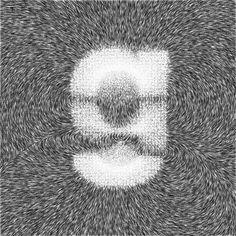 Balla Dora Typo-Grafika: Helvetica + Processing = Magnetica #white #black #magnet #and #helvetica #typography