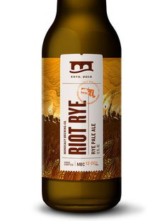 Monocacy Brewing Company Riot Rye Packaging #beer #branding #packaging #label #brand #identity #logo