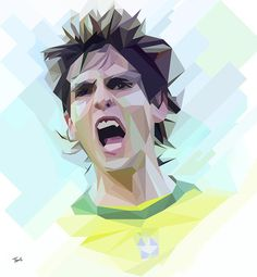 Kaká: He belongs to football #illustration #photoshop filter