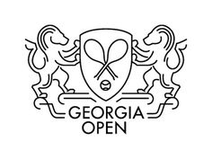 Dribbble - Georgia Open by Maksim Arbuzov #logotype #tennis #branding #ball #lion #identity #logo