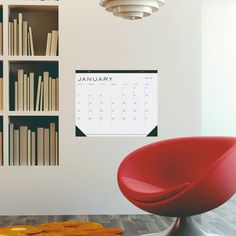 large beautiful minimal desk/wall calendar for 2015 #2015 #white #calendar #black #space #large #wall #desk #minimal #gif #and #typography