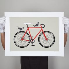 Bike Print by Greg Straight - Prints & Posters | NZ Art Prints & Poster Store | endemicworld.com #self #promotion #shameless #whoops