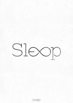 Piccsy :: SLEEP/♥♥♥ #logo #sleep #typography