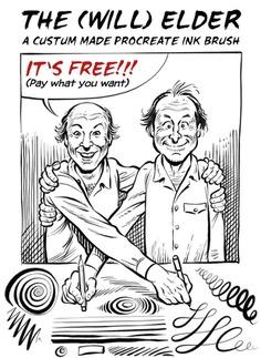 FREE Comic Ink Brush Set for Procreate