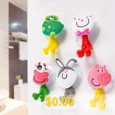 Creative #Cute #Cartoon #Animal #Family #Sucker #Toothpaste #Toothbrush #Holder #Animal #Suction #Cup #Holder #Style #Optional #- #KITTEN