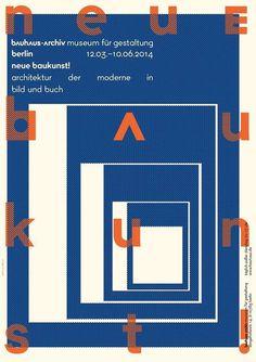 refugium NEUE BAUKUNST 2 #bauhaus #berlin #poster #typography