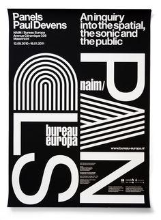 NAiM Panels - Experimental Jetset #poster #typography #experimentaljetset