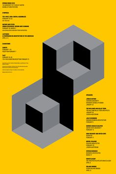 UTSoA Spring Lecture Series Poster Graphis #yellow #minimal #poster