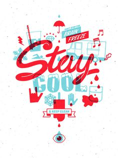 Staycool1 #color #two #illustration #stay #cool