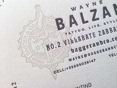 Tattoo Shop Branding: Dagger & Co. by Chad Michael #brand #logo #tattoo #identity