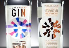durnham gin alchohol packaging bottle #bottle #packaging #gin