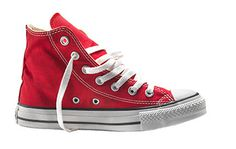Red ked Converse #red #isolated #photo #ked #boot
