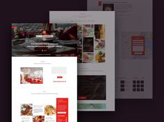 Restaurant PSD Template Design
