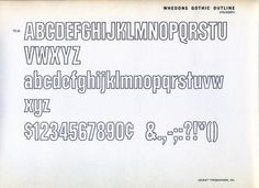 Daily Type Specimen | Whedons Gothic Outline was designed in 1965 by... #typography