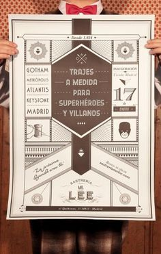 Mr Lee Tailor to Superheroes and Villains | The Inspiration Room #sastrera #design #lee #tipography #comic #poster #superheroe #mr