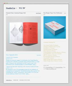 Studio Lin (Nice Portfolio Presentation) #website #layout #design #web