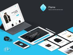 Flame UI Kit Sketch