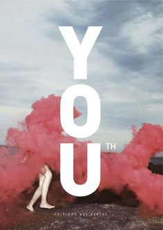 Strong typo on pale photo book cover (Cover Magazine / Book Youth) #design #graphic #book #cover #typo #typography