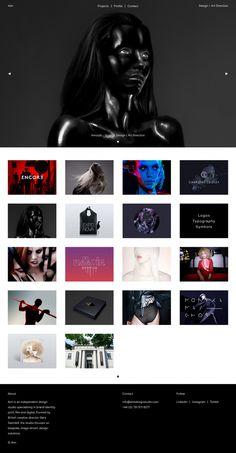 Aim Design Studio black portfolio design designer webdesign beauty beautiful modern simple best cool nice inspire inspiration mindsparklemag