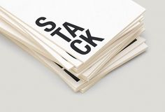 Stack Architects #print #typography