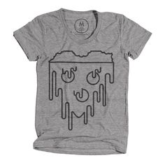 Women's Tee #cheese #design #graphic #shirt #minimal #tee #pizza #grey #logo #party