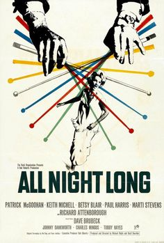 All Night Long Movie Poster #movie #hollywood #retro #all #night #vintage #poster #long
